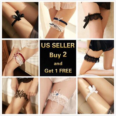 Sexy Women's Lace Thigh Leg Ring Elastic Garter Belt Halloween -