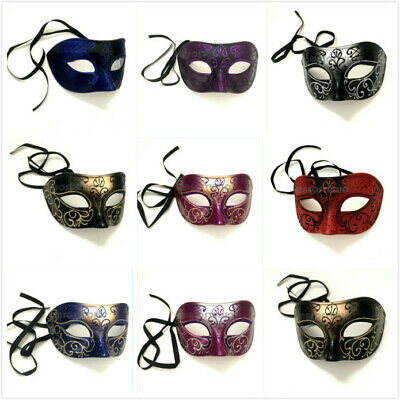Masquerade Ball Costumes For Men (Mens Masquerade Ball Mask Graduation Prom Bachelor Costume Carnival Party WIDE)