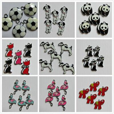 2 - 100 SP Charms Enamel 9 Designs Dog/Cat/Panda,etc. 25-30mm Jewellery Making