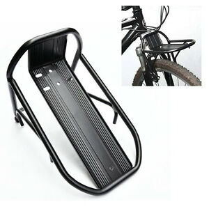 Black-New-Cycling-Bike-Bicycle-Aluminum-Alloy-Front-Rack-Panniers-Bag-Bracket