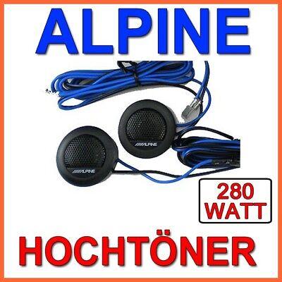 ALPINE  SXE Hochtöner - inkl. Einbaumaterial Frequenzweiche CarHifi Auto Tweeter