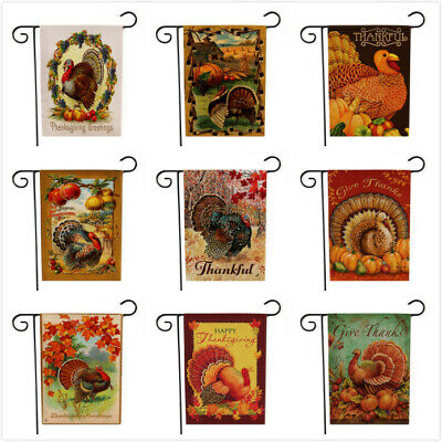 Thanksgiving Day Turkey Garden Flags House Home Decorations Mini Yard Banners](Thanksgiving Home Decorations)