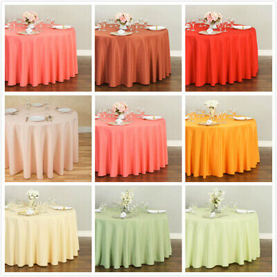 LinenTablecloth 108 in. Round Polyester Tablecloths, 32 Colors!