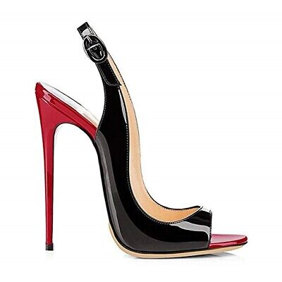 Damenschuhe Peeptoe Open Toe Stiletto Pumps Slingbacks Super High Heel Nachtclub Peep Toe Slingback Heels Schuhe