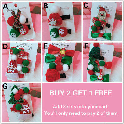 Merry Christmas Girl Hair Clips Pins Hairpins Hair Accessories For  Girls Women ()