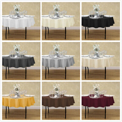 LinenTablecloth 70 in. Round Polyester Tablecloths, 33 Colors! for - Round Table Clothes