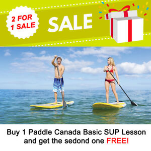 Outdoor Stand Up Paddleboard Lessons - Great gift