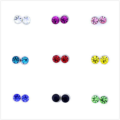 Classic magnetic magnet diamond style crystal stud earrings