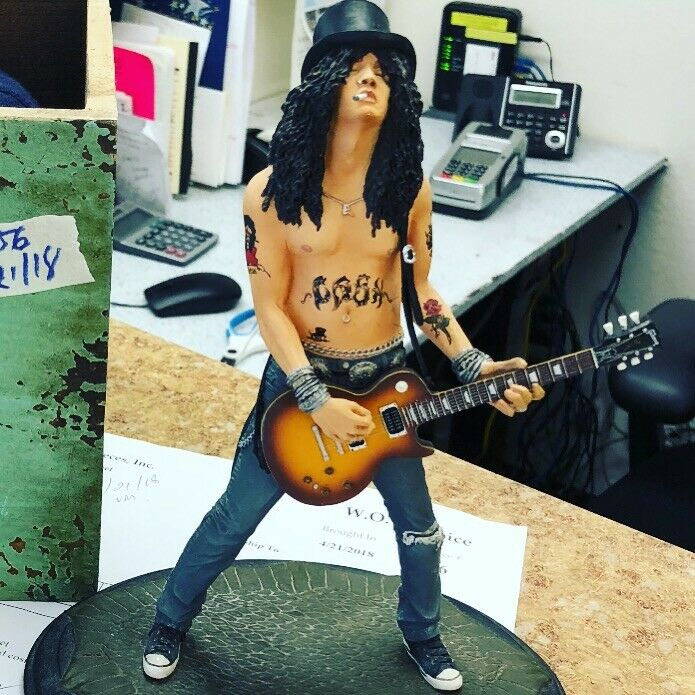 Rare 2005 KnuckleBonz Rock Iconz Guitar Hero SLASH Statue Figure #2964/3000