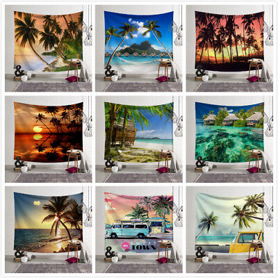 Beach Ocean Style Wall Hanging Tapestry Bedspread Wall Throw Home Decor Blanket ()