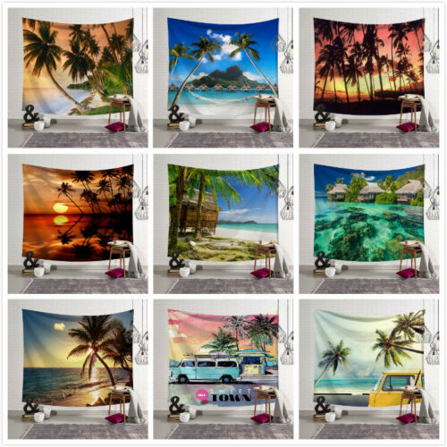 Beach Ocean Style Wall Hanging Tapestry Bedspread Wall Throw