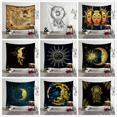 Sun Moon And Stars Tapestry Throw Wall Hanging Home Decor Blanket Bedspread New - Stars And Moon Decorations