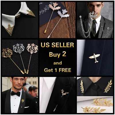 (14 style Men's Brooch Lapel Badge Suit Pin Chest Metal Wedding Party Accessories)