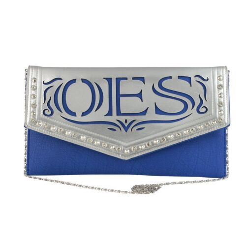 OES Clutch Purse with Detachable Chain Shoulder Strap - Eastern Star