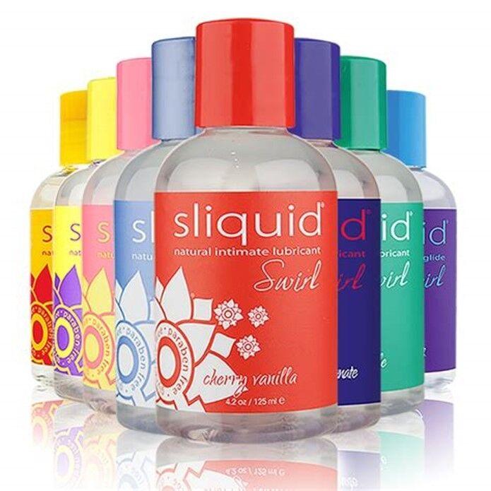 SLIQUID SWIRL intimate sex lubricant flavored water based 2 oz 4.2 oz vegan