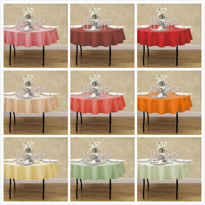 70 Round Tablecloth (70 in. Round Polyester Tablecloth 33 Colors! for Wedding Event  Banquet)