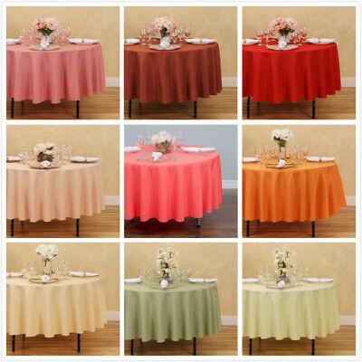 LinenTablecloth 90 in. Round Polyester Tablecloths, 33 Colors! Weddings & Events (Bridal Tablecloths)