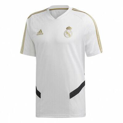 Adidas Real Madrid Training Jersey # DX7849 White Gold Men SZ M - 2XL