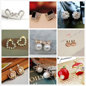 FREE-Fashion-Women-Girls-Hot-Cute-Sweet-Crystal-Pearl-Earring-Ear-Stud