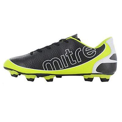 NEW MITRE MIRAGE SOCCER CLEATS SHOES SIZE 12 BLACK / YELLOW