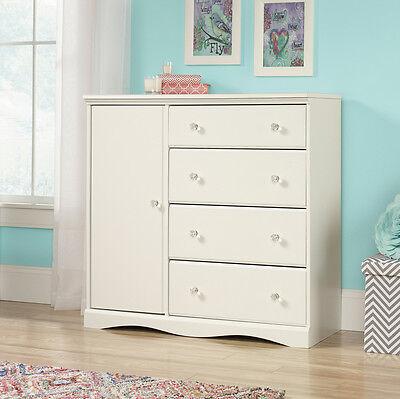 كومودينو جديد NEW Sauder Furniture 417146 Pogo Bedroom Chifforobe Wardrobe Dresser Soft White