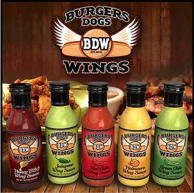 - BDW Wing Sauce 12.7 oz Honey BBQ Red Chile Habanero Jalapeno  New Mexico