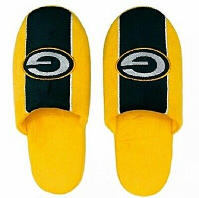 GREEN BAY PACKERS COLOR BLOCK SLIPPERS - MEN - NFL - FREE SHIP! Green Bay Packers Mens Slipper