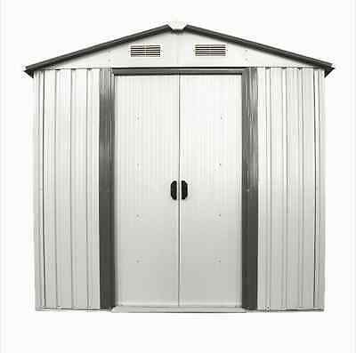 6' x 4' Outdoor Shed Storage Steel Utility Tool Backyard Lawn Building Garage