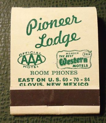 Matchbook   Pioneer Lodge Clovis Nm Full Aaa Best Western