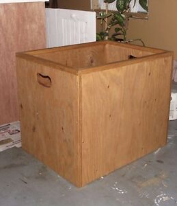 Real wood toy box