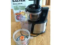 Salter Slow Juicer - as new