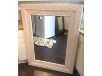 Large shabby chic'd double framed mirror