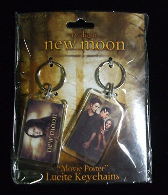Twilight Saga New Moon Movie Poster Lucite Keychains NIP