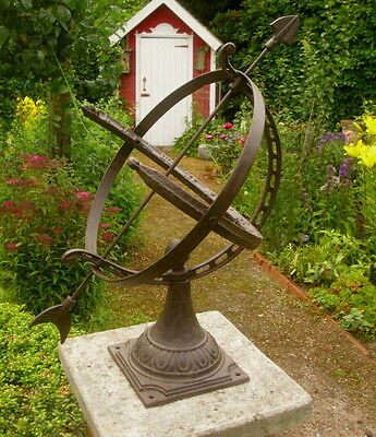 Large English Sundial 55cm High Cast Iron Antique Nostalgia Style Garden New