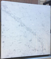 75 sft 18x18 Bianco Carrara Polished Marble Clearance $3.99sf
