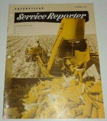 Caterpillar Oct. 1955 Service Reporter Brochure Magazine Manual Original Cat