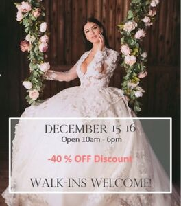 Minimum 40% off on every wedding dress in store