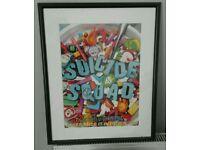 Framed suicide squad cinema poster