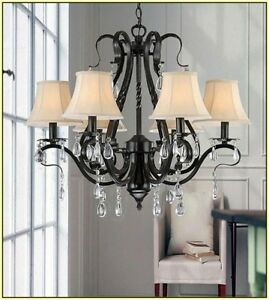 5 cream shades - dress up your chandelier for Christmas!