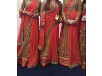 Gorgeous orange lengha sari