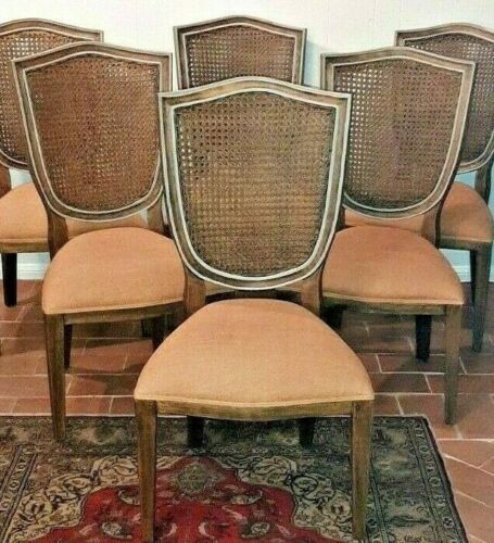 Dining Chairs French Louis Double Cane - Showroom Floor Samples - Set of 6