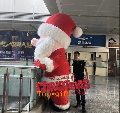 Angel Halloween Costumes 2019 (2019 Xmas Inflatable Santa Claus Mascot Christmas Costume Saint Nick Plush)