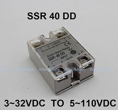 40dd Ssr Input 332vdc Load 5110vdc Dc Single Phase Dc Solid State Relay