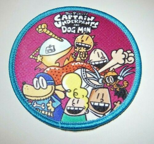 CAPTAIN UNDERPANTS AND DOG MAN IRON ON PATCH **BUY 2 Get 1 FREE ** Free Shiping