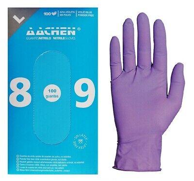 Guantes de Nitrilo Talla L Caja de 100 Color Violeta Resistentes Envío...