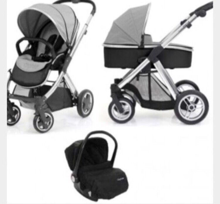 Oyster 3 Way Travel System Pram Grey And Black In Hessle