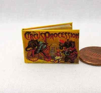 (CIRCUS PROCESSION Illustrated Miniature Book Dollhouse 1:12 Scale Book)