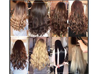 £150 RUSSIAN FULL HEAD MICRO RING HAIR EXTENSIONS DOUBLE DRAWN NANO KERATIN BONDS LA WEAVE