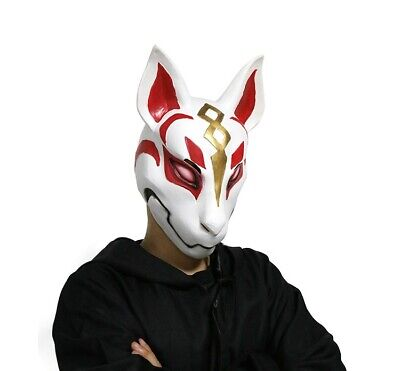 Fortnite Game Fox Drift Mask Latex Full Face Helmet fo Halloween Cosplay Costume](Fox Halloween Mask)