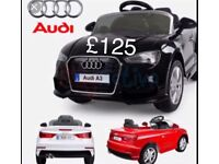 Licensed 12v Audi A3 ride on car with remote control music and lights (leeds) only £125
